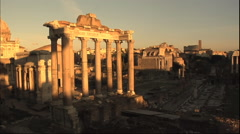 Roman Forum Timelapse at Sunset Video ITALY ROME Stock Footage