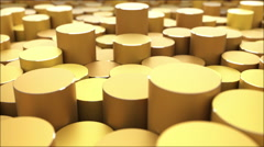 Cylinders Environment Aerial looping background 4K Stock Footage