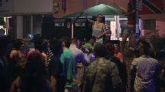 People Dancing in Street at St Pauls Carnival Bristol Stock Footage