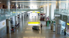 Interior of Sheremetyevo aiport terminal D Stock Footage