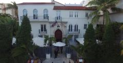 Versace Mansion-South Beach Miami-Daytime-Push and Pull Stock Footage