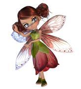 Stock Illustration of Cute Blossom Fairy