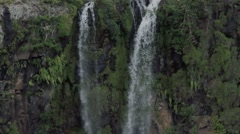 Waterfall in Black River Gorges Nationalpark, Mauritius Stock Footage