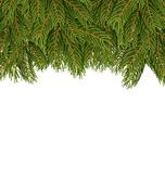 FIR branches on white sheet. Christmas background for congratulations. Tree t - stock illustration