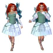 Red haired fairy Stock Illustration