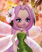 Sakura Fairy Stock Illustration