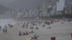 Rio de Janeiro, Brazil slow motion beach shot Stock Footage