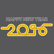 Creative happy new year 2016 design in road style Piirros