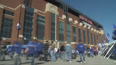 Lucas Oil Colts Stadium Time-lapse Stock Footage