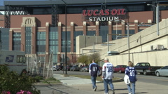 Lucas Oil Colts Stadium 3 Stock Footage