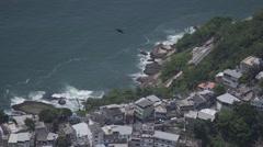 Rio de Janeiro, Brazil coastline Stock Footage