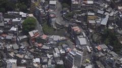 Rio de Janeiro, Brazil, busy Favela in slow motion Stock Footage