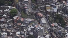 Rio de Janeiro, Brazil, busy Favela Stock Footage