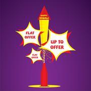 Creative diwali festival offer banner design vector Stock Illustration