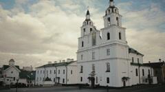 Holy Spirit Church in Minsk Stock Footage