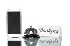 globalization website booking lodging by cell phone - stock photo