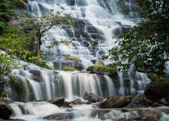 silky smooth waterfall - stock photo