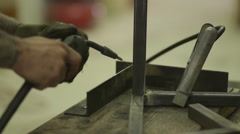 Welding Gun with Sparks Close Up Stock Footage