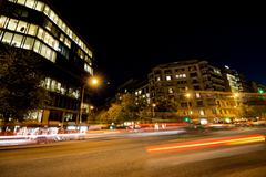 Stock Photo of Night lights on the street