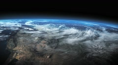Earth - outer space footage of planet Earth Stock Footage
