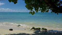 Beautiful beach, Trous-Aux-Biches, Mauritius Stock Footage