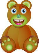 Bear toy. - stock illustration