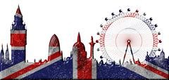 London skyline Stock Illustration