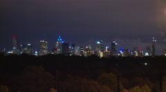 Generic City Skyline night at 3 Miles 5 Km's (Medium) Stock Footage