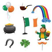 Saint Patrick Day Icons Stock Illustration