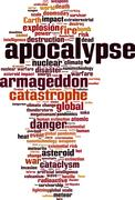 Apocalypse word cloud Piirros