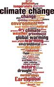Climate change word cloud Stock Illustration