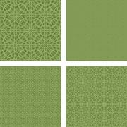 Pastel green seamless pattern background set - stock illustration