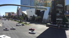 Intersection traffic in Las Vegas time lapse Stock Footage