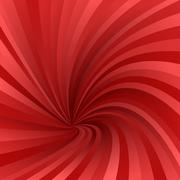 Red asymmetrical vortex design background - stock illustration