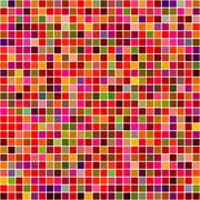 Stock Illustration of Red colored mosaic square pattern background