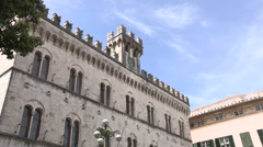 The front of the law court of Chiavari Stock Footage
