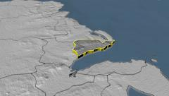 Carrickfergus - county of Northern Ireland (UK) extruded. Bumps Stock Footage