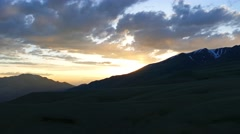 Valley landscape in Altai Mountains at sunset, 4k - stock footage