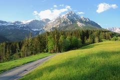Wilder Kaiser mountains in the alps of Austria Stock Photos