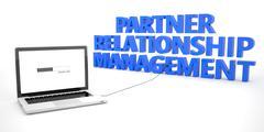 Partner Relationship Management - stock illustration