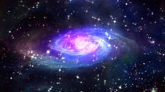 Stock Illustration of space blue galaxy in the space.