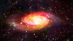 Stock Illustration of space red galaxy in the space.