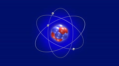 Electrons Orbit Around the Nucleus of an Atom Stock Footage