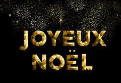 Merry christmas french joyeux noel france country Stock Illustration