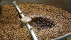 Dryer coffee beans roaster - stock footage
