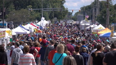 Crowds of People at Popcorn Festival Ohio 4k Stock Footage