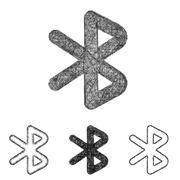 Bluetooth icon set - sketch line art Stock Illustration