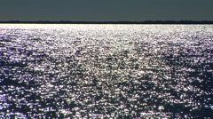 Sparkling waves moving right to left Stock Footage