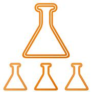 Orange line alchemy logo design set Stock Illustration