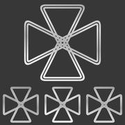 Silver line loop logo design set Stock Illustration